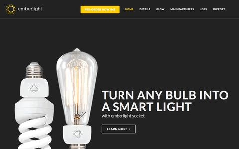 Screenshot of Home Page emberlight.co - emberlight | home - captured Nov. 3, 2015