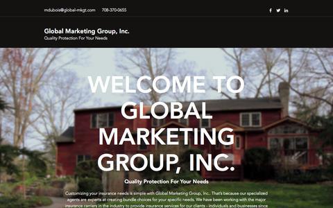 Screenshot of Home Page global-mkgt.com - Home | Global Marketing Group, Inc. - captured Sept. 26, 2018
