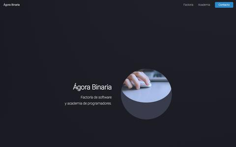 Screenshot of Home Page agorabinaria.com - Ágora Binaria - captured Oct. 25, 2017
