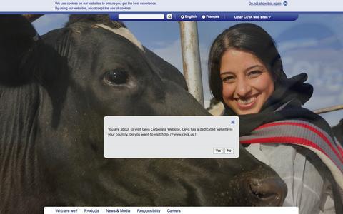 Screenshot of Home Page ceva.com - Ceva Corporate - CEVA Corporate - captured Oct. 1, 2014