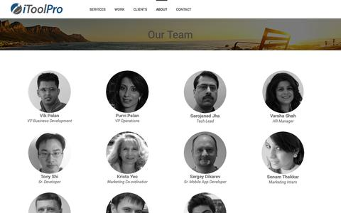 Screenshot of Team Page itoolpro.com - Our Team at iToolPro are experts for Websites & Marketing - captured Sept. 19, 2014