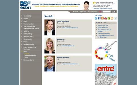Screenshot of Press Page esbri.se - Press | ESBRI - captured Sept. 26, 2014