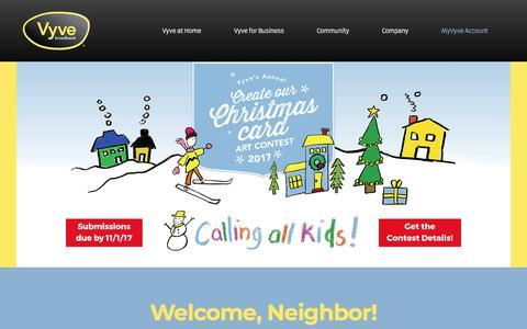 Screenshot of Home Page vyvebroadband.com - Vyve Broadband | High-Speed Internet, TV and Phone Service - captured Nov. 14, 2017
