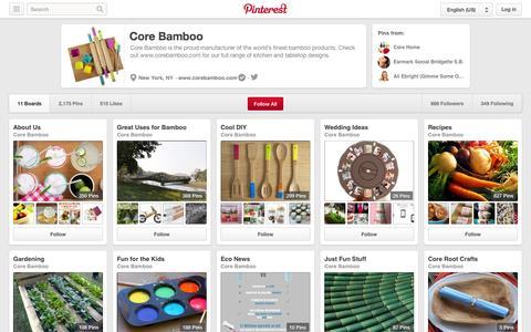 Screenshot of Pinterest Page pinterest.com - Core Bamboo on Pinterest - captured Oct. 23, 2014