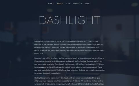 Screenshot of About Page dashlight.com - About — Dashlight - captured Feb. 8, 2016