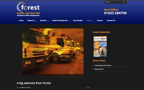Screenshot of Press Page forestsupportservices.co.uk - Latest News - Forest Traffic Management - captured Nov. 3, 2014