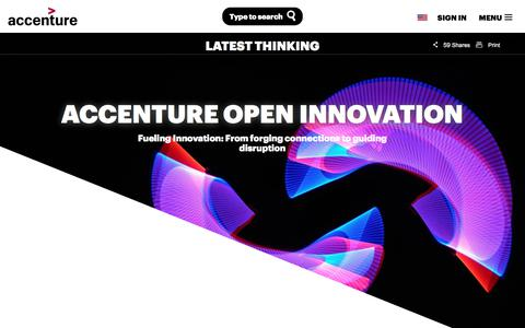 Screenshot of accenture.com - Open Innovation   Accenture - captured Nov. 16, 2017