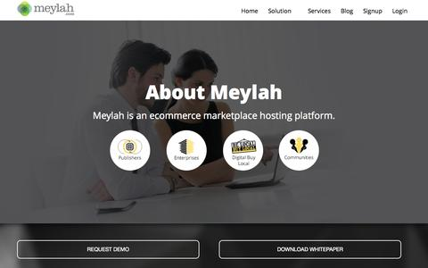 Screenshot of About Page meylah.com - About | Meylah - captured Nov. 23, 2015