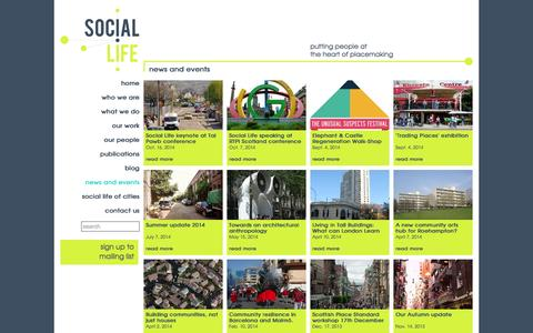 Screenshot of Press Page social-life.co - news and events :: SOCIAL LIFE - captured Oct. 7, 2014