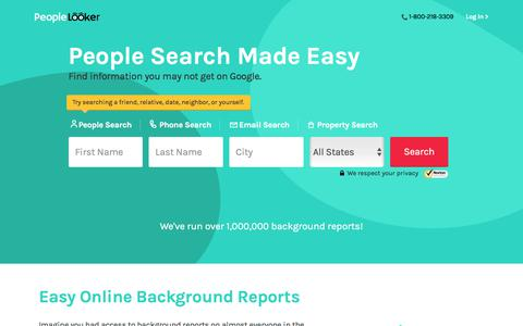Screenshot of Home Page peoplelooker.com - Search Social Media Profiles - Find People, Friends & Relatives | PeopleLooker - captured July 7, 2018