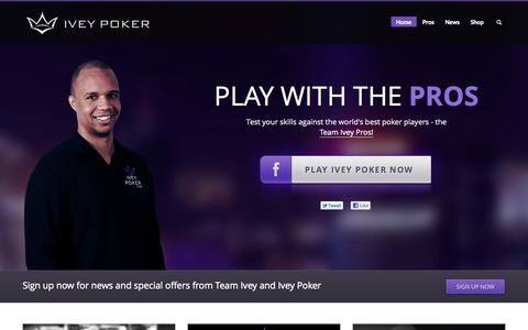 Screenshot of Home Page iveypoker.com - Ivey Poker - Play with the worlds best poker pros! - captured Sept. 22, 2014