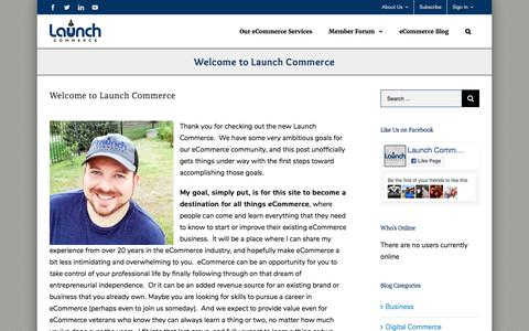 Screenshot of About Page launchcommerce.com - Welcome to Launch Commerce - eCommerce Community and Advisors - captured Oct. 16, 2017