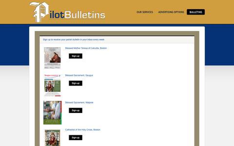 Screenshot of Signup Page pilotbulletins.net - Bulletins - captured Sept. 28, 2018