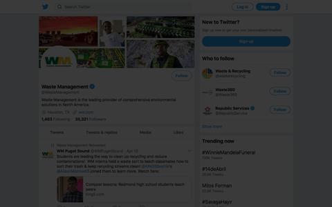 Tweets by Waste Management (@WasteManagement) – Twitter
