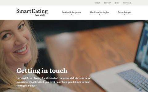 Screenshot of Contact Page smarteatingforkids.com - Contact Page - Smart Eating for Kids - captured March 11, 2016