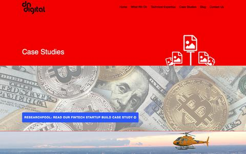 Screenshot of Case Studies Page dndigital.net - Portfolio Items Archive - DN Digital London - captured Oct. 7, 2018