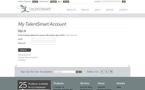 My TalentSmart Account Sign In