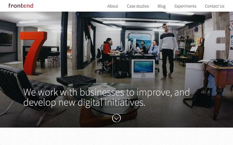 Screenshot of About Page frontend.co.nz - Frontend Design - Simplify your customer's life - captured Feb. 10, 2016
