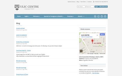 Screenshot of Blog ulic.es - Blog | Academia ULIC Madrid - captured Oct. 3, 2014