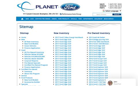 Planet Ford | Vehicles for sale in Brampton, ON L7A 1G1