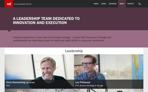 Screenshot of Team Page wdpartners.com - Leadership - WD Partners - captured Jan. 10, 2016