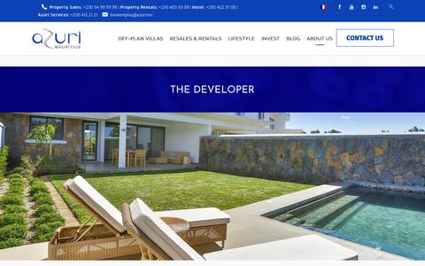 Screenshot of Developers Page azuri.mu - The Developer | Azuri Mauritius - captured Sept. 24, 2018