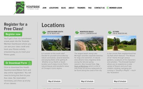 Screenshot of Locations Page youtsidefitness.com - Youtside Fitness Club Locations - captured Oct. 9, 2014