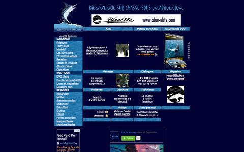 Screenshot of Home Page chasse-sous-marine.com - A la chasse sous-marine en apnée - captured Sept. 19, 2014