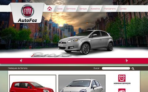Screenshot of Home Page autofoz.com.br - AutoFoz - Concessionária autorizada FIAT para Foz do Iguaçu e Região. - captured Jan. 27, 2015
