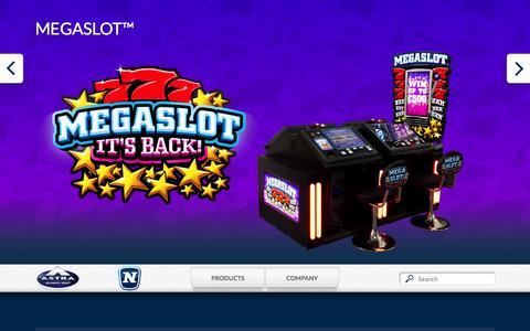 Screenshot of Home Page astra-games.com - Home - Astra Games - captured Sept. 30, 2014