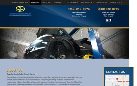 Screenshot of About Page sanportauto.com - ABOUT US - Sanport - captured Nov. 17, 2016