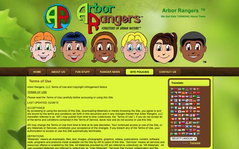 Screenshot of Terms Page arborrangers.com - Terms of Use | Arbor Rangers ™ - captured Oct. 8, 2017