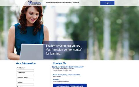 Screenshot of Pricing Page summary.com - Contact Us | Soundview Corporate Learning Solutions - captured Nov. 4, 2016