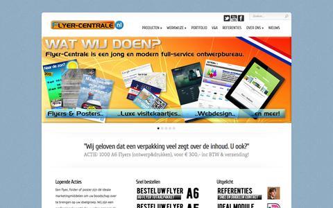 Screenshot of Home Page flyer-centrale.nl - Flyer-Centrale.nl | Centraal punt voor al uw ontwerpen! - captured Sept. 30, 2014