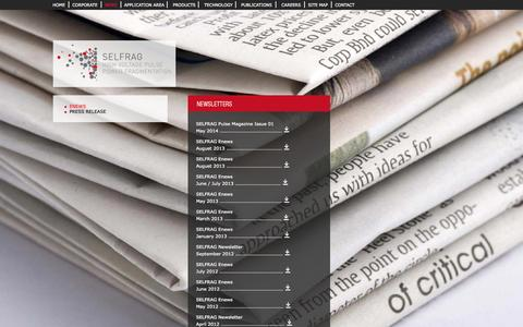 Screenshot of Press Page selfrag.com - SELFRAG - captured Oct. 3, 2014