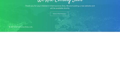 Screenshot of Home Page internacional-area.com - Grupo Internacional Área - captured June 8, 2018