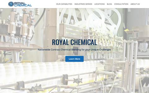 Screenshot of Home Page royalchemical.com - Quality Chemical Solutions for Your Unique Challenges | Royal Chemical - captured March 21, 2018