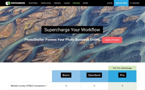 Screenshot of Signup Page photoshelter.com - Sign up for PhotoShelter - Host your photography website & sell photos   PhotoShelter - captured Oct. 25, 2015