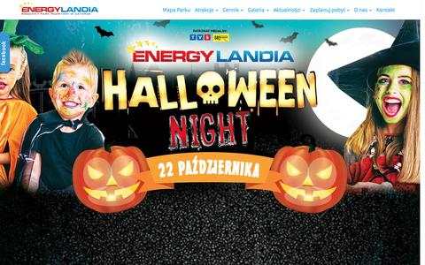 Screenshot of Home Page energylandia.pl - ENERGYLANDIA – Rodzinny Park Rozrywki w Zatorze – ENERGYLANDIA – największy rodzinny Park Rozrywki w Polsce ! - captured Aug. 27, 2016