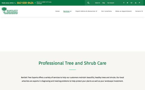 Screenshot of Services Page bartlett.com - Bartlett Tree Experts: Our Tree and Shrub Care Services - captured June 28, 2017