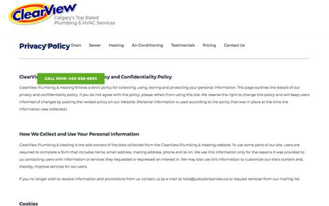Privacy Policy | ClearView Plumbing