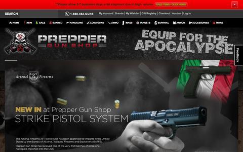 Screenshot of Home Page preppergunshop.com - Prepper Guns Home Prepper Gun Shop - captured Jan. 23, 2015