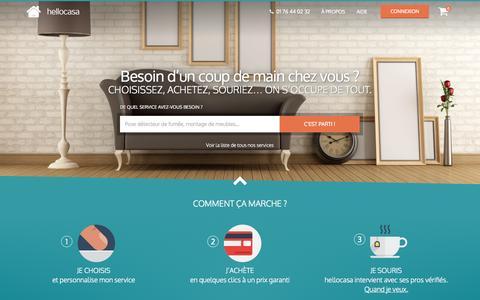 Screenshot of Home Page hellocasa.fr - hellocasa.fr : Bricolage et petits travaux à domicile | hellocasa.fr - captured Jan. 21, 2015