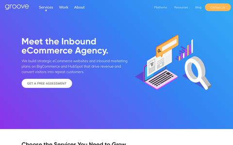 Screenshot of Home Page groovecommerce.com - eCommerce Design, Marketing & Development | Groove Commerce - captured Dec. 12, 2018