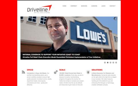 Screenshot of Home Page drivelineretail.com - DRIVELINE RETAIL - DRIVING YOUR BUSINESS - captured Sept. 22, 2018