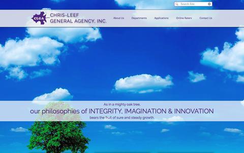 Screenshot of Home Page chris-leef.com - Chris-Leef General Agency, Inc. - captured July 29, 2017