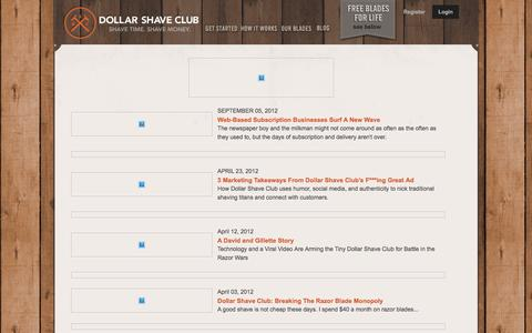 Screenshot of Press Page dollarshaveclub.com - press - captured March 30, 2016