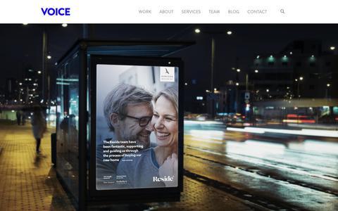 Screenshot of Home Page voicebrandagency.com - Voice | Homepage - captured Nov. 7, 2018