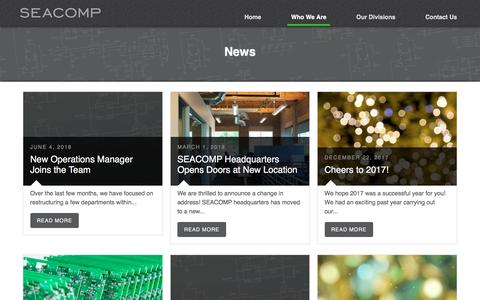 Screenshot of Press Page seacomp.com - News | SEACOMP - captured July 11, 2018