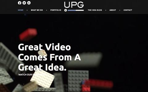 Screenshot of Home Page upgvideo.com - Austin Video Production & Video Marketing Services - UPG Video - captured Feb. 4, 2016